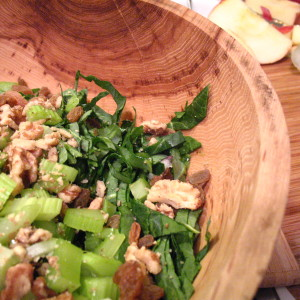 Kale with Raisins, Walnuts and Fennel